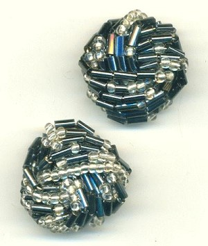 22mm Navy/Clear Bead Embellishment