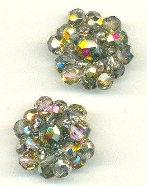 28mm Crystal AB Beaded Embellishment