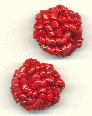 23mm Red Bead Embellishment