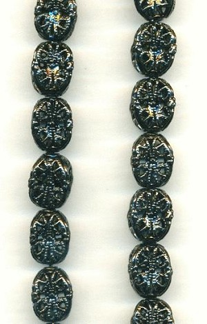 11mm Gunmetal Filigree Bead