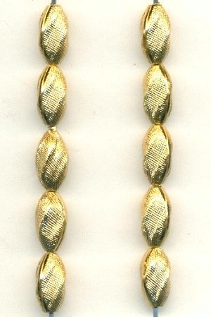 10x5mm Gold Plated Plastic Beads