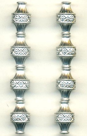 19x12mm Antique Silver Plastic Beads