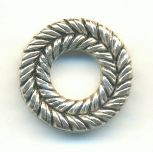 15mm Antique Silver Plastic Links