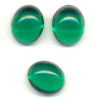 12x10mm Transparent Emerald Oval
