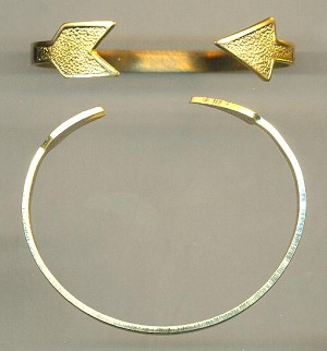 Brass Arrow Cuff Bracelet