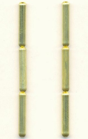 25x4mm Corrugated Brass Tube Beads