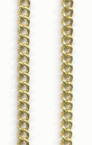 3x2.2mm Gold Plated Curb Chain