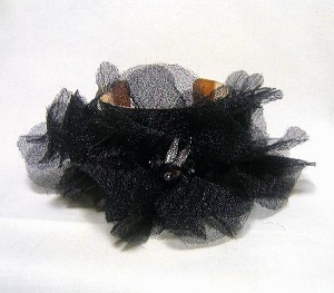 2'' Wide GP Cuff W/ Black Tulle