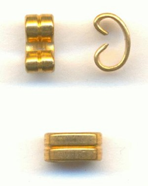 6x3mm Brass Connector