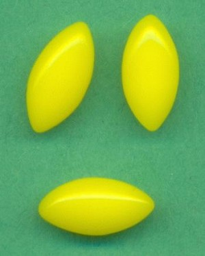 10x5mm Opaque Yellow Navette