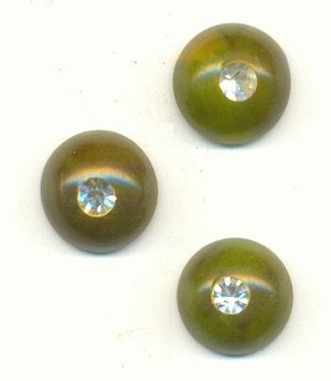 9mm Green/Yellow Bakelite Cabs W/ RS