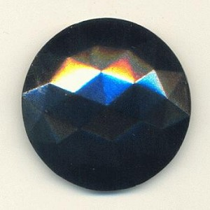 27mm Hematite Faceted FB Stone