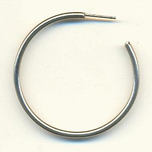 1 1/2'' SP Post Hoop Earrings