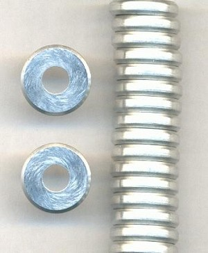 15mm Silver Metal Bead