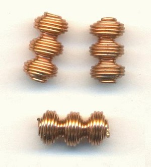 9x5mm Copper Coated Steel Spiral Beads