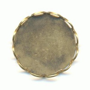 13mm Antique Brass CB Lace Setting