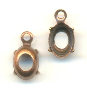 7x5mm Antique Copper Oval Setting OB 1R