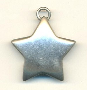 27mm Silver Cast Metal Star Charms