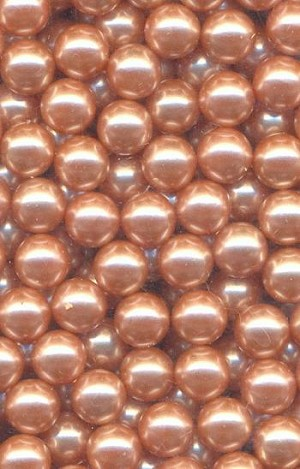 6mm Pink No Hole Pearl Beads
