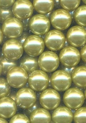 8mm Pale Olive No-Hole Beads