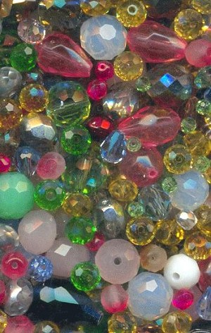 2mm-17mm Mixed Faceted Glass Beads