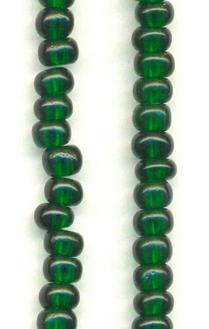 06/0 Emerald Seed Beads