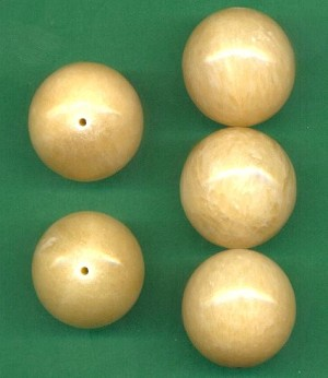 24mm Large Beige Quartz Stone Bead