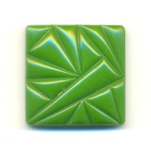 18.5mm Green Square Stone