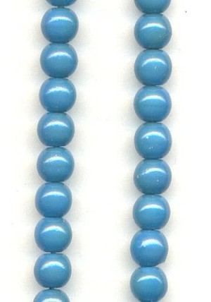 4mm Glass Turquoise Beads