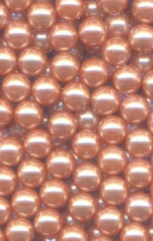 5mm No Hole Peach Pearl Beads