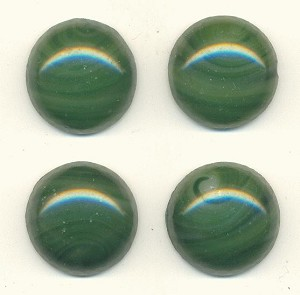 18mm Dark Green Swirled Glass Stone