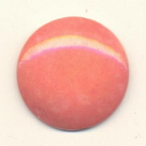 27mm Light Coral Glass Stone