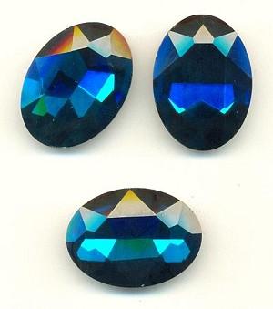 30x20mm Blue Zircon/Indicolite Oval RS