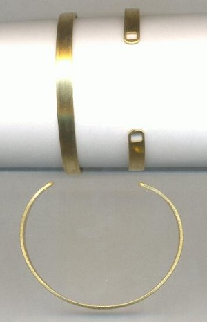 Adjustable Brass Cuffs with Square Holes