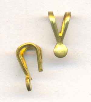 7.5x3.5mm Brass Bails for Soldering