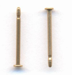 9.6x1.5mm Brass Earring Posts