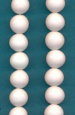 11mm Very Pale Pink Japanese Glass Bead