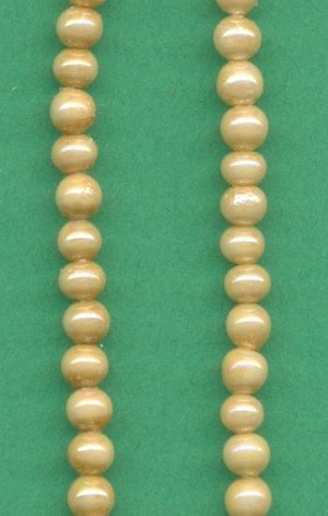 3mm Beige Glass Pearl Beads