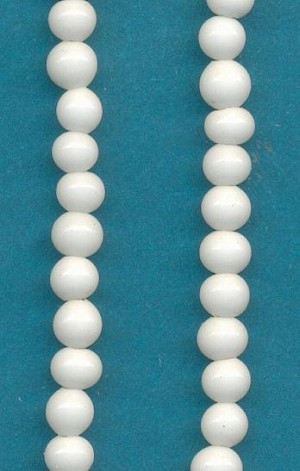 3.5mm White Pressed Glass Beads