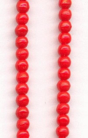3mm Red Pressed Glass Beads