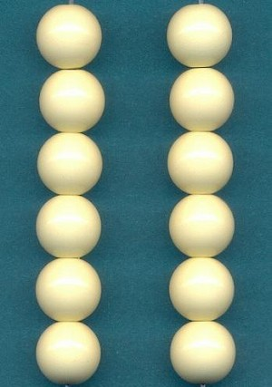 9.5mm Beige Acrylic Round Beads