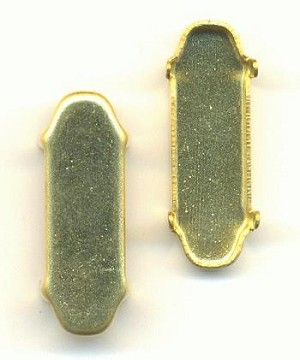 21x7mm Brass Oval Setting CB