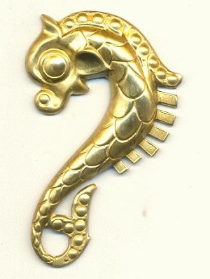 54x33.5mm Brass Seahorse Stampings