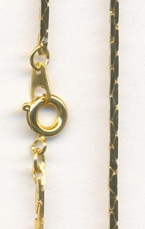 7 1/8'' Gold Plated Serpentine Bracelets
