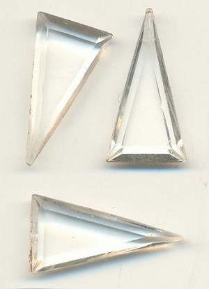 19x10mm Transparent Clear Triangle RS