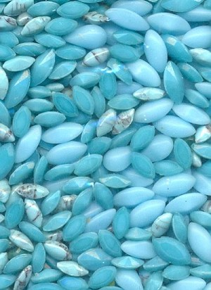 Mixed Opaque Blue Stones