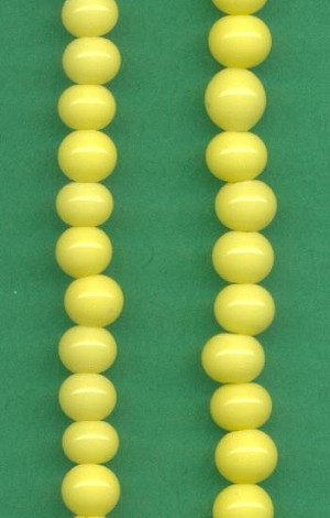 5mm Opaque Yellow Glass Bead