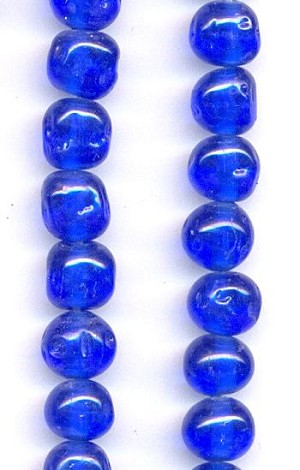 8mm Sapphire Baroque Glass Beads