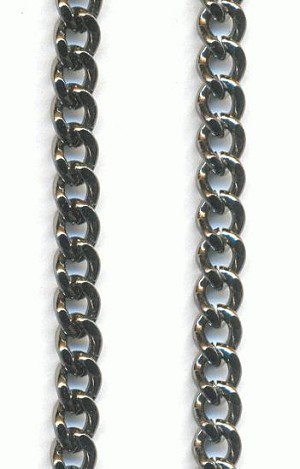3.5mm Gunmetal Plated Curb Chain