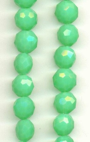 10mm Milky Green Glass Beads